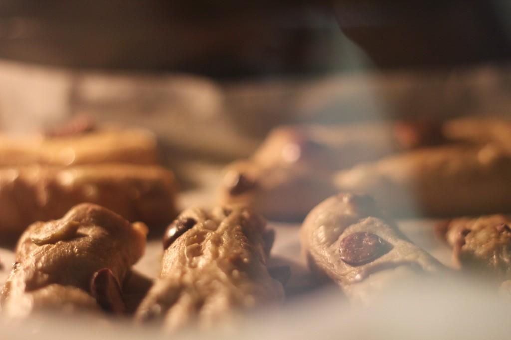בתנור, במהלך האפיה